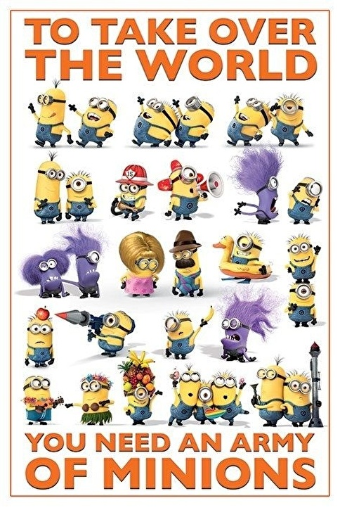 Pyramid International Maxi Poster Despicable Me 2 Take Over The World Renkli